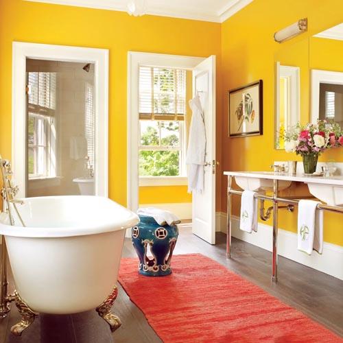 رنگ حمام و دستشویی